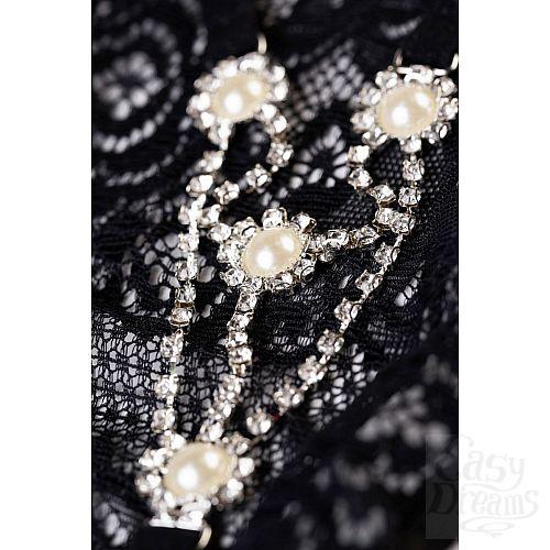 Фотография 5  Трусики-стринги со стразами и жемчужинками Pearl