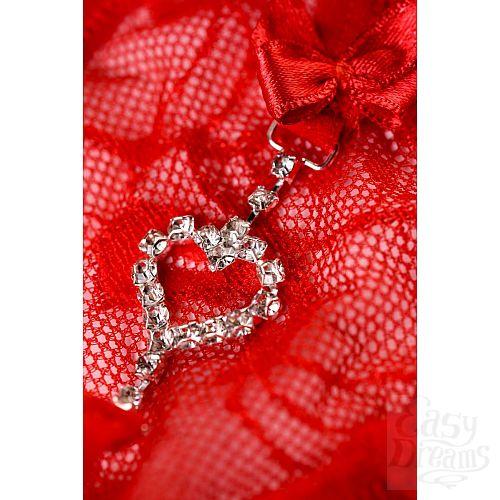 Фотография 11  Трусики-стринги Jamie с сердечком из страз