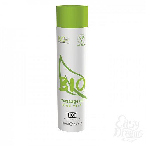 Фотография 1:  HOT Production  Массажное масло HOT BIO Massage oil aloe vera 100 мл  44152