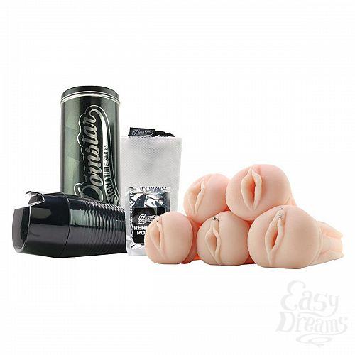 Фотография 3  Набор PORNSTAR Gang Bang из колбы и 5 рукавов-вагин