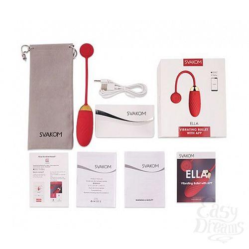 Фотография 5  Красное виброяйцо Ella с управлением через смартфон