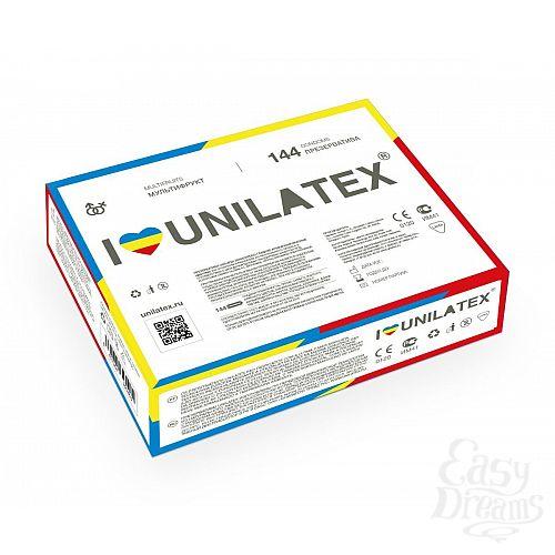 Фотография 1:  Разноцветные ароматизированные презервативы Unilatex Multifruits - 144 шт.