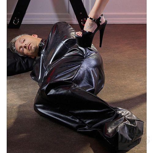 Фотография 4  Чёрный мешок без подкладки для фетиш-фантазий