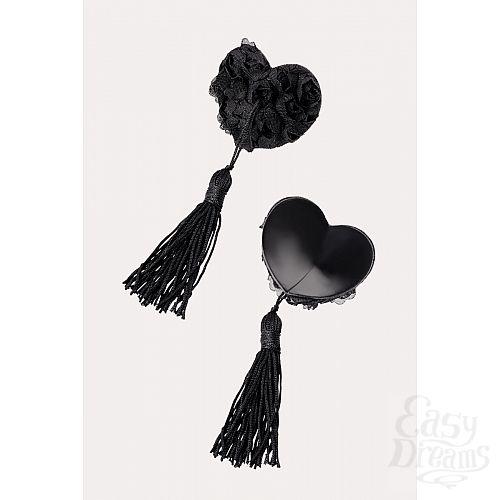 Фотография 2  Нежные пэстис в форме сердец с розами и кисточками