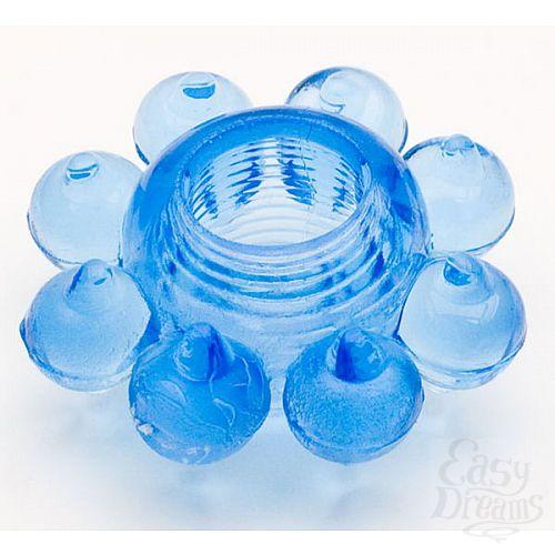 Фотография 1:  Голубая гелевая насадка (ToyFa 818001-6)