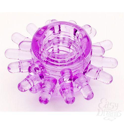 Фотография 1:  Фиолетовое гелевое эрекционное кольцо (ToyFa 818003-4)