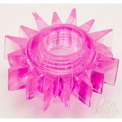 Фотография 1:  Розовое эрекционное кольцо (ToyFa 818004-3)