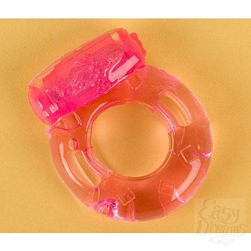 Фотография 1:  Розовое эрекционное кольцо с вибратором (ToyFa 818034-3)