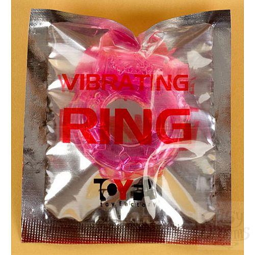 Фотография 2  Розовое эрекционное кольцо с вибратором (ToyFa 818034-3)