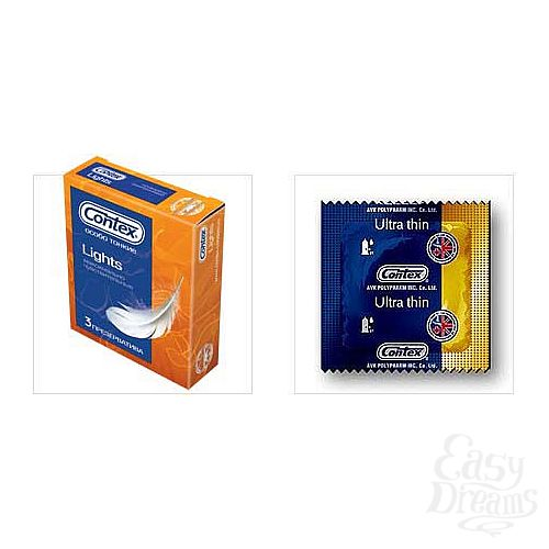 Фотография 1:  Презервативы особо тонкие CONTEX 3 Lights, 3 шт.