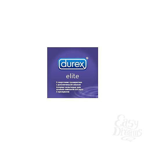 Фотография 1:  Презервативы сверхтонкие DUREX  ELITE, 3 шт.