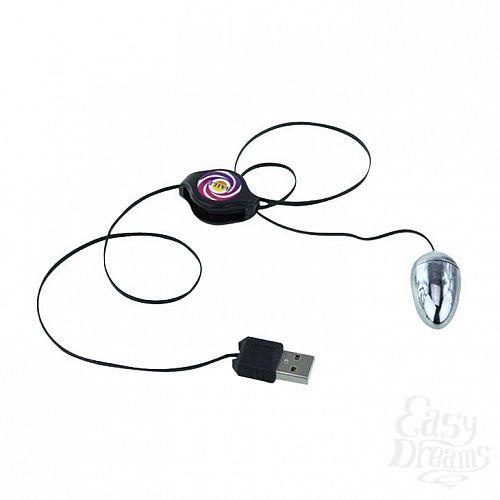 Фотография 2  Серебристое виброяйцо с USB-питанием