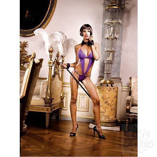 Фотография 1: Baci Lingerie White Collection Mafia Боди OS (42-46), фиолетовый