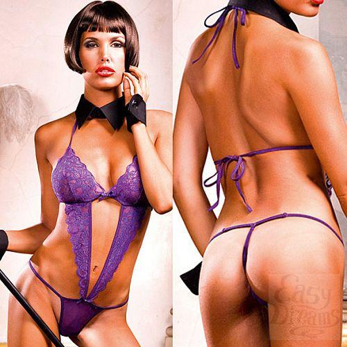 Фотография 4 Baci Lingerie White Collection Mafia Боди OS (42-46), фиолетовый