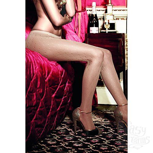 Фотография 2 Baci Lingerie Black Label Have Fun Princess Колготки светло-бежевые сеточные в дырочку OS (42-46)