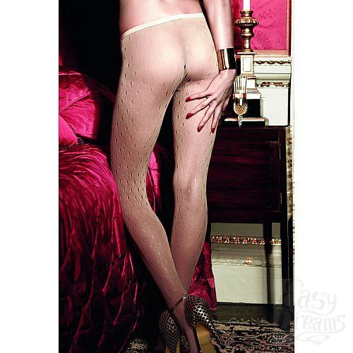 Фотография 3 Baci Lingerie Black Label Have Fun Princess Колготки светло-бежевые сеточные в дырочку OS (42-46)