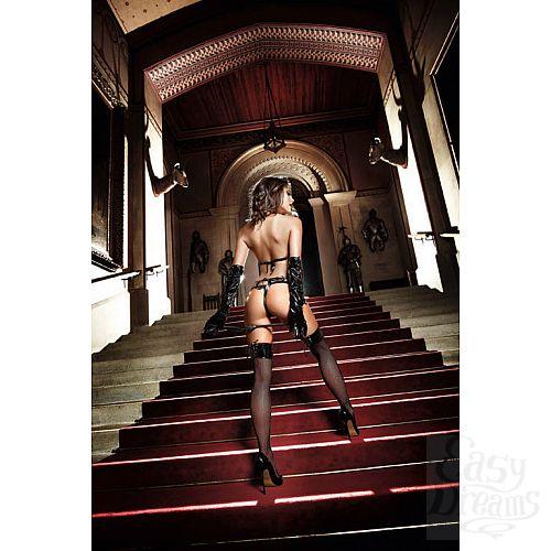 Фотография 4 Baci Lingerie Black Label Deeper in Hell Монокини черный из тюлевой ткани с узором в точечку