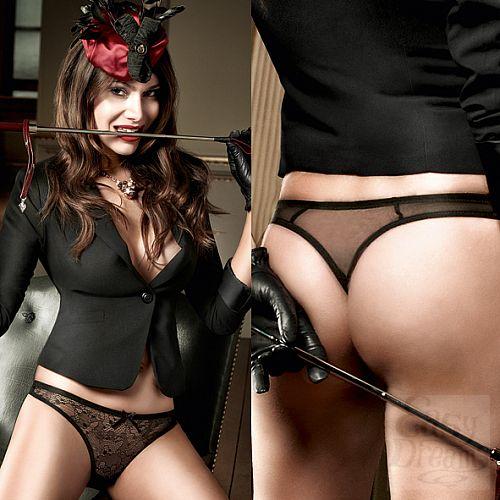 Фотография 4 Baci Lingerie Black Label Agent Of Love G-Стринги черные с нежным узором;  ML