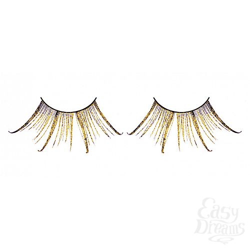 Фотография 1: Baci Lingerie Ресницы коричнево-золотые  перья