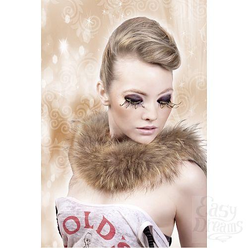 Фотография 2 Baci Lingerie Ресницы коричнево-золотые  перья