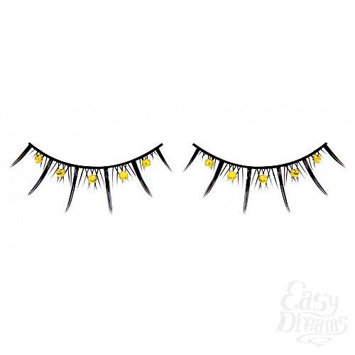 Фотография 1: Baci Lingerie Ресницы чёрные с жёлтыми стразами