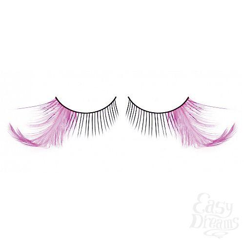 Фотография 1: Baci Lingerie Ресницы чёрные-фиолетовые  перья