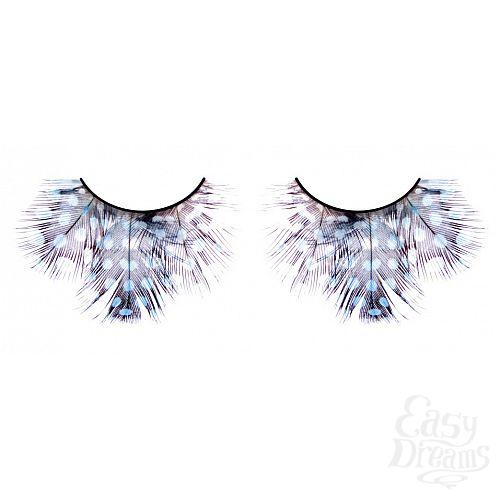 Фотография 1: Baci Lingerie Ресницы светлые сине-фиолетовые  перья