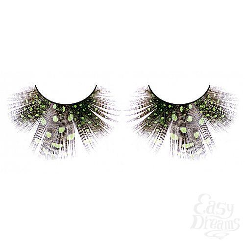 Фотография 1: Baci Lingerie Ресницы светло-зелёные  перья