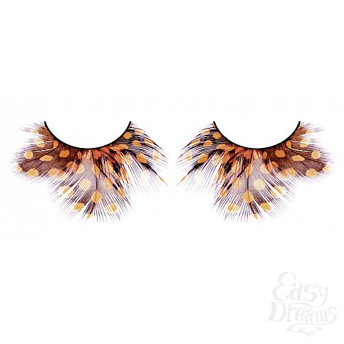 Фотография 1: Baci Lingerie Ресницы жёлто-коричневые  перья
