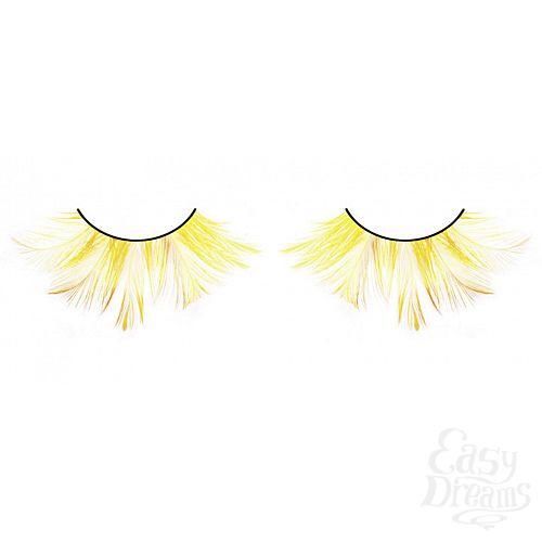 Фотография 1: Baci Lingerie Ресницы жёлтые  перья