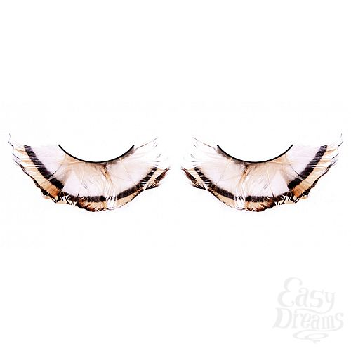 Фотография 1: Baci Lingerie Ресницы бежево-коричневые  перья