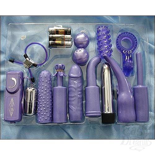 Фотография 1:  Универсальный сиреневый набор для анально-вагинальной стимуляции ( Dream toys 50299)