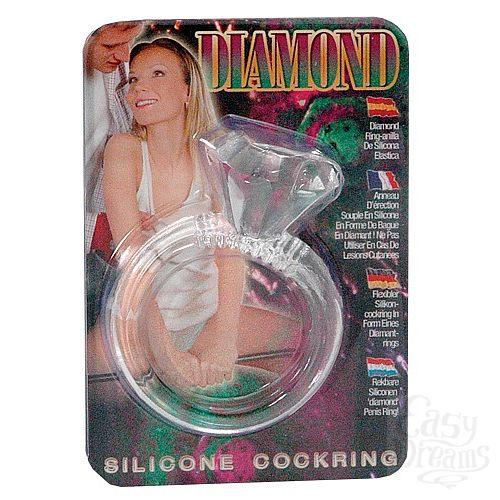 Фотография 1:  Эрекционное кольцо  Бриллиант  ( Dream toys 50454)