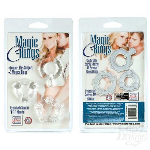 Фотография 2  3 прозрачных эрекционных колечка MAGIC C-RINGS
