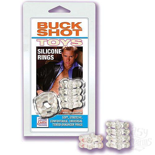 Фотография 1:  Прозрачные эрекционные кольца на пенис BUCKSHOT