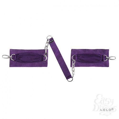 Фотография 7  Шелковые наручники с цепочкой Sutra (LELO), Фиолетовый