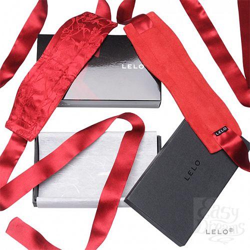 Фотография 1:  Шелковые наручники Etherea (LELO), Красный