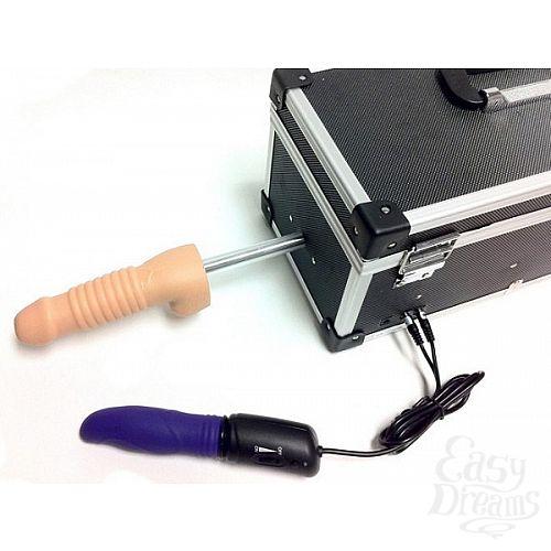 Фотография 1:  Секс-машина с 2 сменными насадками и вибратором