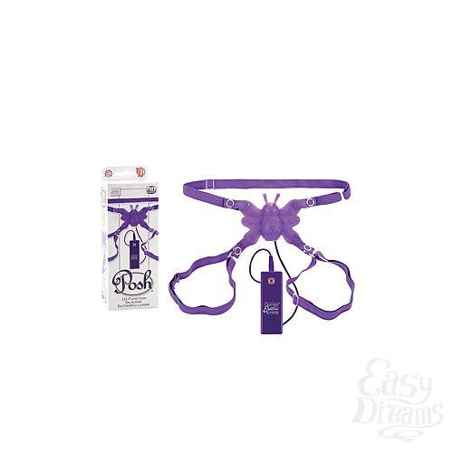 Фотография 1: California Exotic Novelties Стимулятор клитора на ремнях BUTTERFLY LOVER с вибрацией фиолетовый