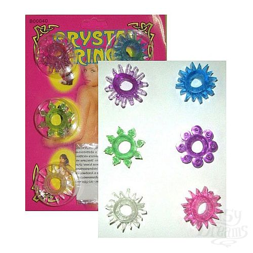 Фотография 1:  Набор из шести разноцветных эрекционных колец