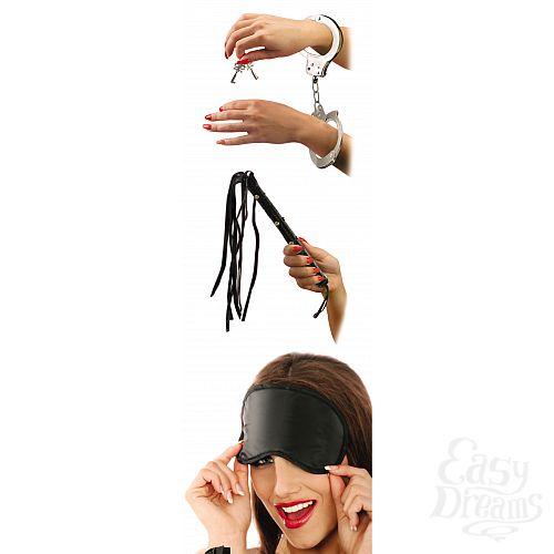 Фотография 2  набор: наручники, плетка и маска