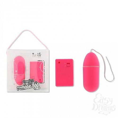 Фотография 2 Toy Joy  Беспроводное виброяйцо Funky Remote Egg - розовое