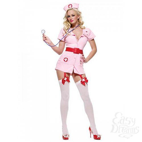 Фотография 1:  Костюм Похотливая медсестра розовая