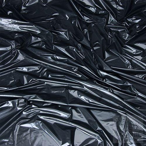 Фотография 1:  Черная виниловая ткань-простынь для эротических игр