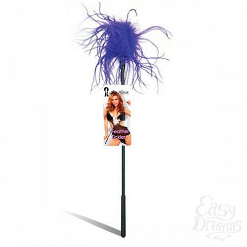 Фотография 1:  Ласкающая палочка с перьями фиолетового цвета