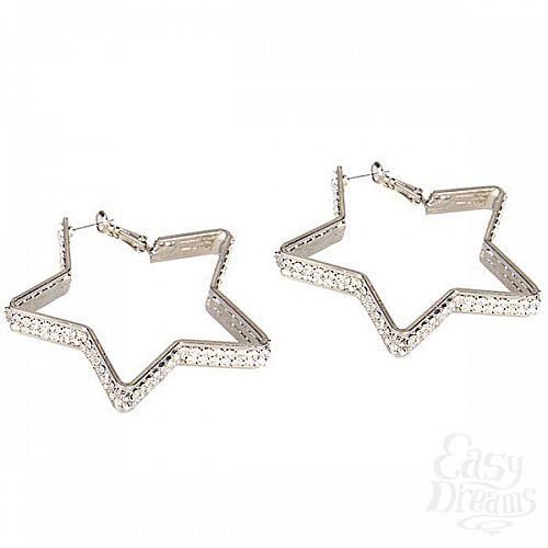 Фотография 1:  Серьги-звездочки с кристаллами Diamond Star