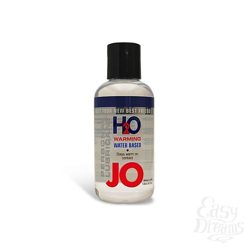 Фотография 1: SYSTEM JO, США Возбуждающий лубрикант на водной основе JO Personal Lubricant H2O Warming, 4.5 oz (135 мл)