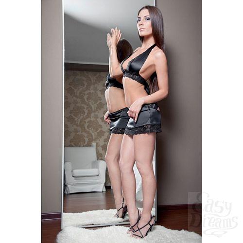 Фотография 3 FlirtON Комплект белья Anigue черный Размер 42-44 2700-42-44