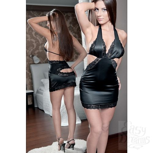 Фотография 3 FlirtON Мини платье Adelis черное Размер 42-44 2699-42-44