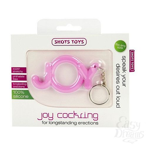 Фотография 2  Эрекционное кольцо Joy Cocking розовое